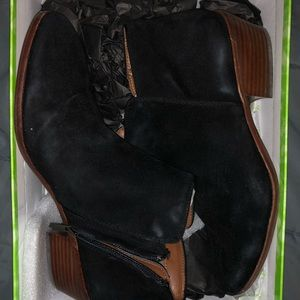 Sam Edelman black suede booties new in box